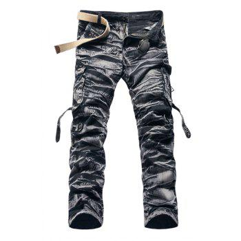 Fashion Camo Design Multi-Pocket Military Style Straight Leg Men's Cotton Blend Cargo Pants