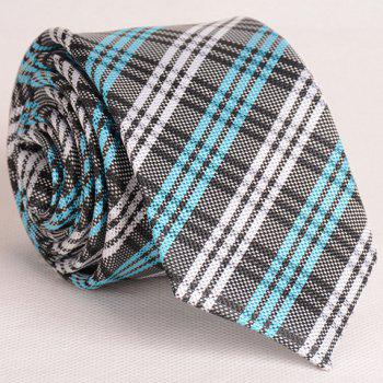 Fresh Style Colorful Stripe and Plaid Pattern Thin Neck Tie For Men