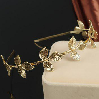 Chic Retro Style Leaf Shape Hairband For Women - GOLDEN GOLDEN