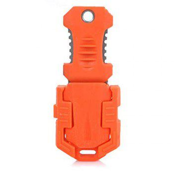 EDC Gear Multifunction Outdoor Camping One Full Blade Survival Knife with Webbing Buckle Style -  ORANGE