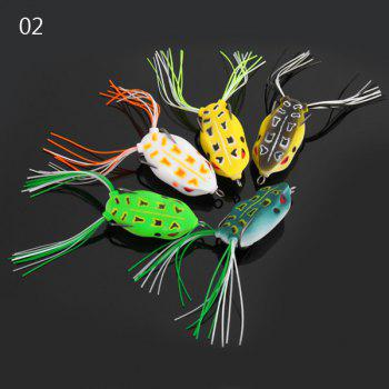 Yoshikawa 5pcs Lifelike Frog Shaped Soft Fishing Lure 10cm Bait with Hooks - COLORMIX NO.02