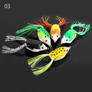 Yoshikawa 5pcs Lifelike Frog Shaped Soft Fishing Lure 10cm Bait with Hooks - COLORMIX NO.03
