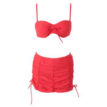 Sexy Halter High Waisted Red Women's Bikini Set