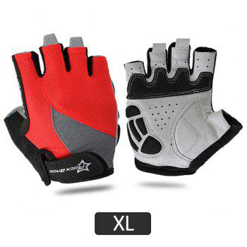 RockBros Bike Gel Half Finger Cycling Gloves Short Sport Gloves Black