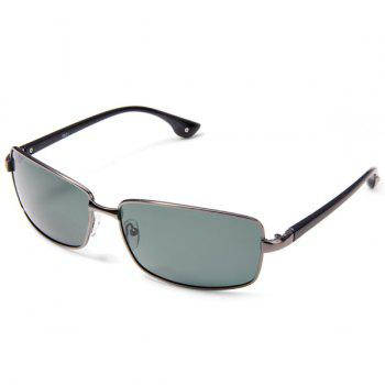 8621 Men Outdoor Sun Glasses Light Green Polarized Lens Metal Frame Nose Bridge with Silicone Pad