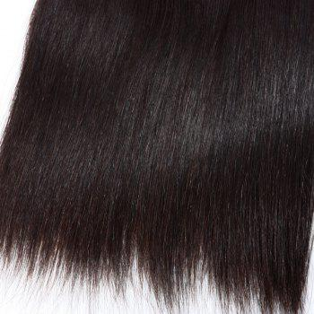 Trendy Straight 8A Grade Unprocessed Women's Brazilian Remy Hair Weft - BLACK 28INCH