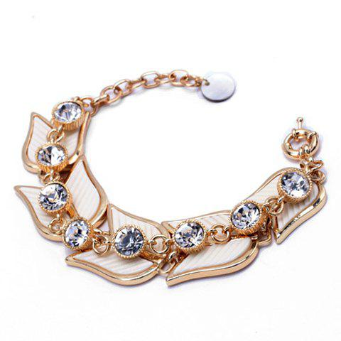 Trendy Rhinestone Embellished Hand Fan Shape Women's Bracelet -  COLORMIX