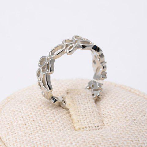 Chic Rhinestone Openwork Irregular Ring For Women - SILVER ONE-SIZE