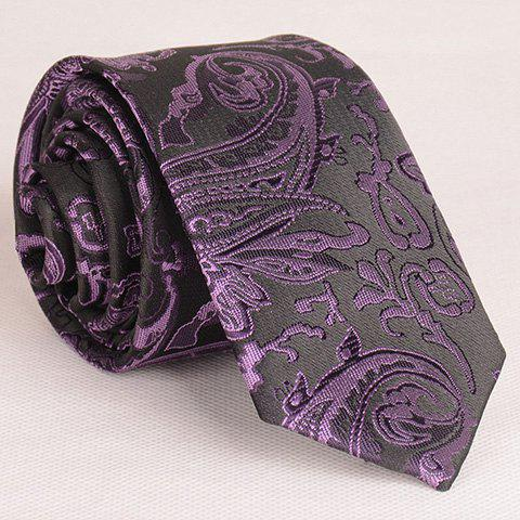 Vintage Various Embroidered Abstract Pattern Neck Tie For Men - VIOLET