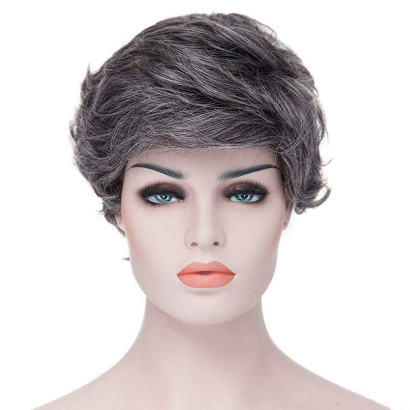 Image For Towheaded Laconic Short Big Curly Side Bang Heat Resistant Fiber Synthetic Women's Grey Wig