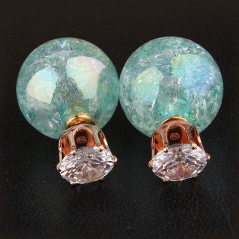 Pair of Dazzling Retro Style Rhinestone Embellished Round Shape Earrings For Women - RANDOM COLOR
