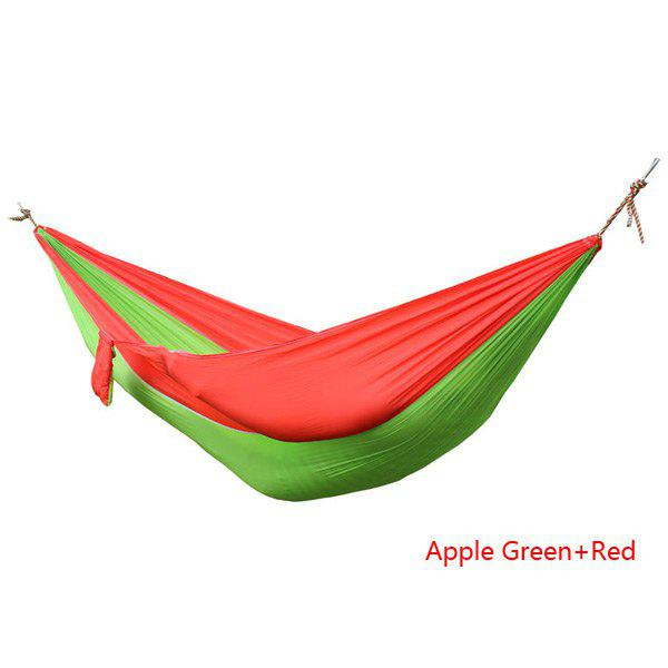 Portable Outdoor Camping Hiking Swing Hammock for 2 Persons ( Maximum Load 200kg ) - APPLE GREEN/RED
