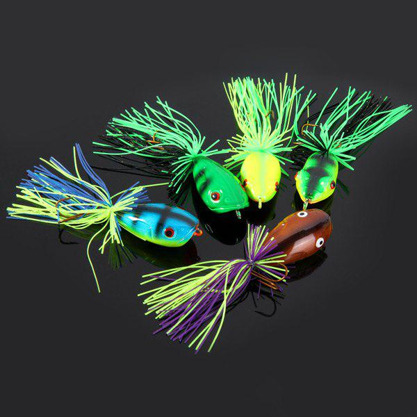 Yoshikawa 5pcs Lifelike Frog Shaped Hard Fishing Lure 10cm Bait with Hooks 1set 10pcs soft silicone fishing lure bait freshwater saltwater