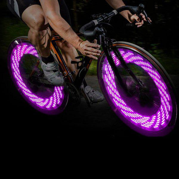 A08 Bicycle Cycling Tire Valve Cap Light Auto Light / Shake Sensation Bulb with 15 Patterns in Change - PINK