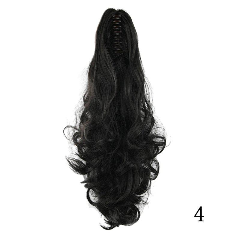 Western Style Fluffy High Temperature Fiber Long Loose Wavy Women's Claw Clip In Ponytail Hair Extension -