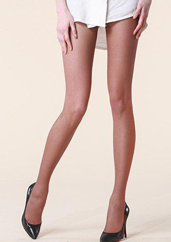 Chic Tiny Mesh Shape Ultrathin Pantyhose For Women - COFFEE