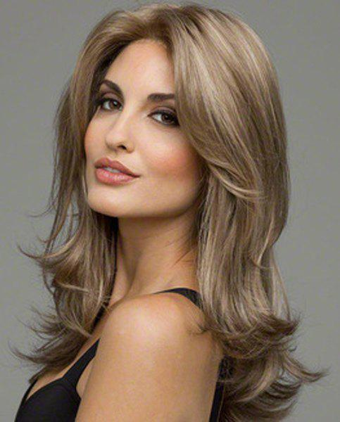Noble Glossy Sexy Natural Wavy Capless Heat-Resistant Synthetic Wig For Women - COLORMIX