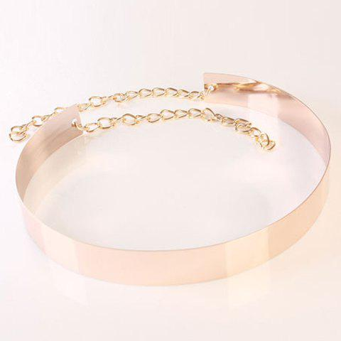 Chic Small Ball Pendant Chain Embellished Women's Smooth Alloy Waistband - ROSE GOLD