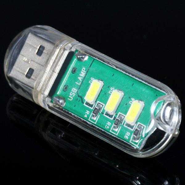 Mini USB Keychain Pocket LED Night Light for Outdoor Home Supplies - AS THE PICTURE