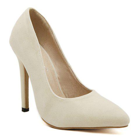 Laconic Stiletto and Pointed Toe Design Suede Pumps For Women