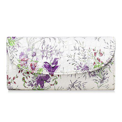 National Style PU Leather and Floral Print Design Clutch Bag For Women free shipping xc3020 7pc84i new original and goods in stock