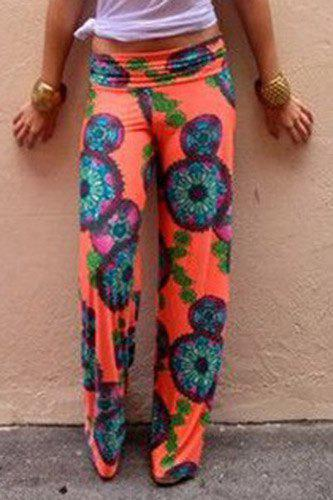 Beautiful  Elastic Waist Geometric Print LooseFitting Women39s Exumas Pants