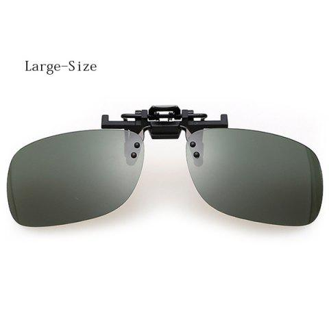 Fashion Short Sightedness Clip-on Lens Daytime Sunglasses for Both Men and Women - BLACKISH GREEN SIZE L