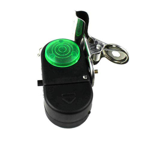Loud Fishing Alarm Device with Clip - BLACK/GREEN
