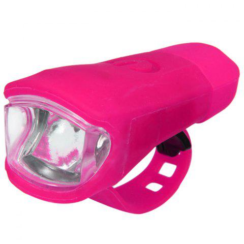 Silicone Water Resisitant 100 Lumens USB Charging Bycicle Front Handbar Lamp Mountain Bike Light for Night Riding - ROSE