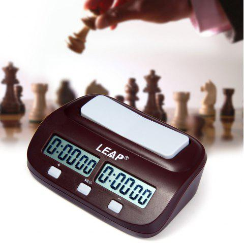 LEAP PQ9907S Digital Chess Clock I-go Count Up Down Timer for Game Competition - WINE RED