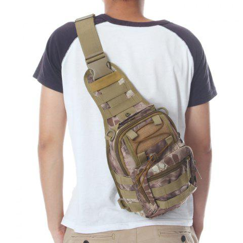 Outdoor Camping Hiking Water Resistant 5L Capacity Nylon Tactical Single Shoulder Bag - CP CAMOUFLAGE