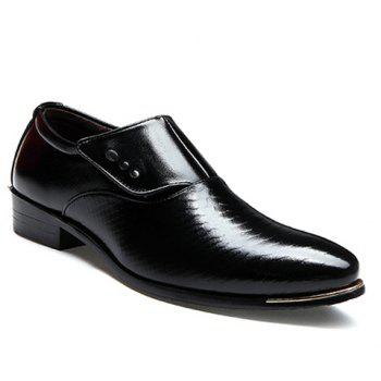 Career Pointed Toe and Magic Sticker Design Formal Shoes For Men