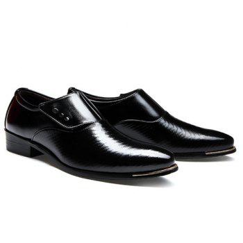Career Pointed Toe and Magic Sticker Design Formal Shoes For Men - BLACK 41
