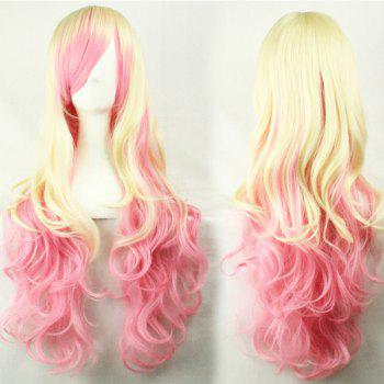 Harajuku Style Lolita Cosplay 70CM Layered Shaggy Long Curly Side Bang Chromatic Costume Wig