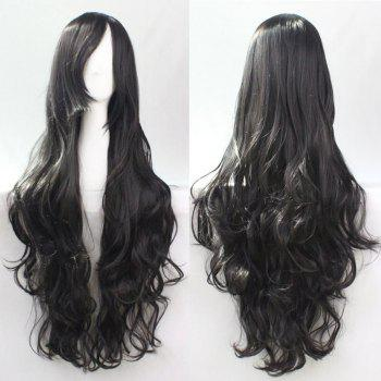 80CM Top Quality Side Bang Layered Shaggy Long Curly Heat Resistant Charming Cosplay Wig