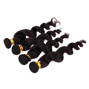 6A Virgin Hair Natural Black 20 Inch Popular Brazilian Loose Wavy Hair Weft For Women -