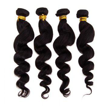 6A Virgin Hair Natural Black 20 Inch Popular Brazilian Loose Wavy Hair Weft For Women