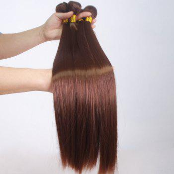 Stylish Natural Straight Top Quality High Temperature Fibre Golden Brown Women's Hair Weft