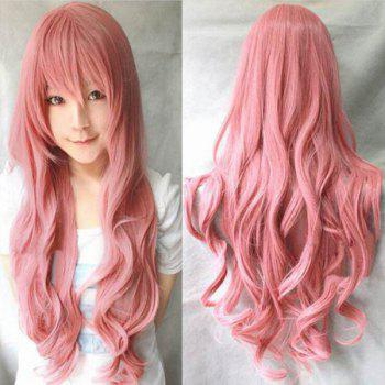 Trendy Long Wavy Fluffy Full Bang 80CM Harajuku Heat Resistant Synthetic Women's Cosplay Wig