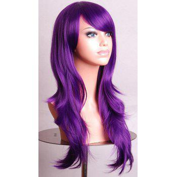 Trendy Long Big Wavy Side Bang 70CM Charming Heat Resistant Synthetic Women's Cosplay Wig