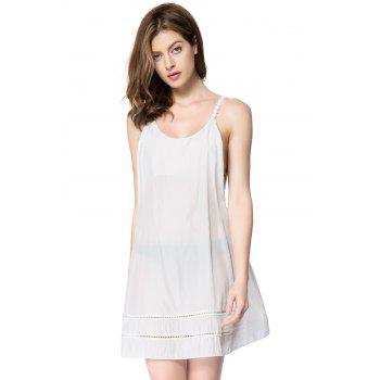 Sexy Scoop Neck Sleeveless Laciness Backless Women's Dress