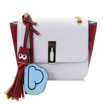 Sweet Chain and Tassels Design Crossbody Bag For Women