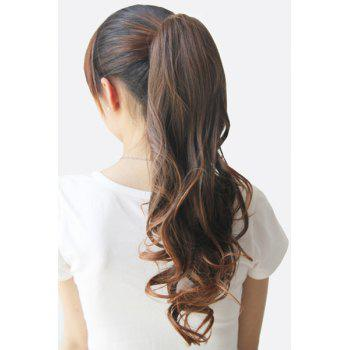 Stylish Charming Drawstring Heat-Resistant Fluffy Long Wavy Ponytail Women's Hair Extension