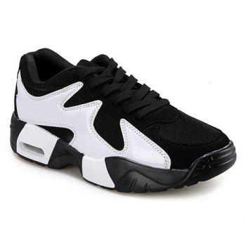 Stylish Style Splicing and Lace-Up Design Men's Athletic Shoes
