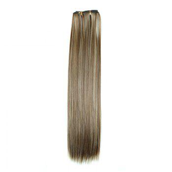 Multicolor Optional Heat-Resistant Fibre Fashion Glossy Long Natural Straight Women's Clip In Hair Extension - 6H613  H