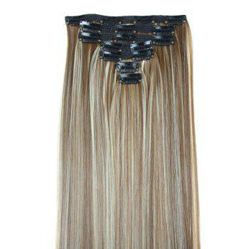 Multicolor Optional Heat-Resistant Fibre Fashion Glossy Long Natural Straight Women's Clip In Hair Extension -   H
