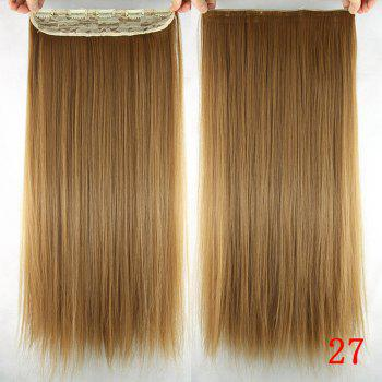 Trendy Silky Straight Heat Resistant Synthetic Hair Weft For Women - 27#