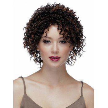 Highlights Synthetic Hair None Bang  Attractive Stylish Capless Women's Short Curly Afro Wig - COLORMIX COLORMIX