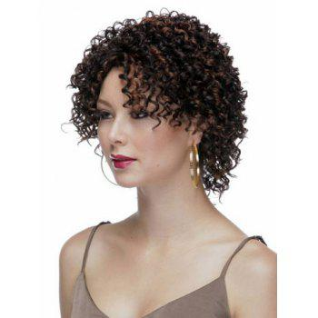 Highlights Synthetic Hair None Bang  Attractive Stylish Capless Women's Short Curly Afro Wig -  COLORMIX