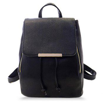 Concise String and PU Leather Design Satchel For Women